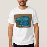 Hippopotamus azul con la decoración negra polera