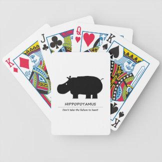 Hippopotamus Bicycle Playing Cards