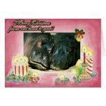 Hippopotamus Blank Christmas Card
