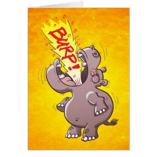Hippopotamus Burping Loudly Card
