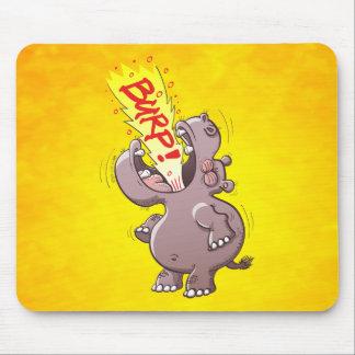 Hippopotamus Burping Loudly Mouse Pad