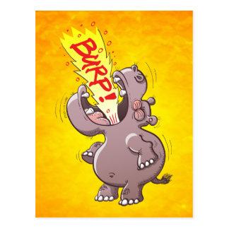 Hippopotamus Burping Loudly Postcard