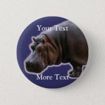 Hippopotamus Button