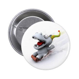 Hippopotamus Pinback Button