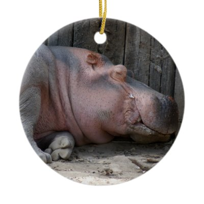 pied piper gift shop: hippopotamus ornament by old world christmas