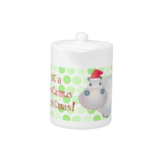 Hippopotamus Christmas Teapot