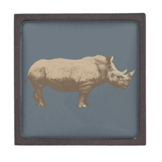 Hippopotamus Cut Out On Blue Background Gift Box