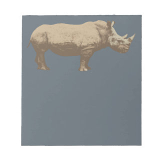 Hippopotamus Cut Out On Blue Background Notepad
