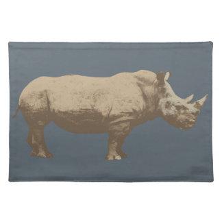 Hippopotamus Cut Out On Blue Background Placemat