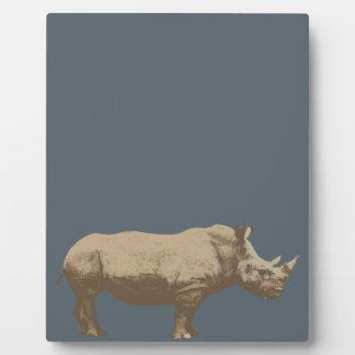 Hippopotamus Cut Out On Blue Background Plaque