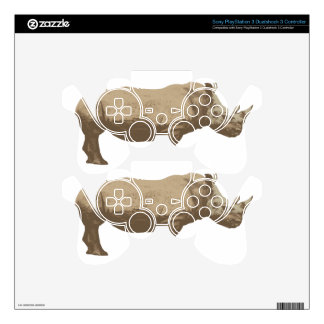 Hippopotamus Cut Out On Blue Background Skins For PS3 Controllers