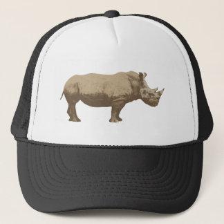 Hippopotamus Cut Out On Blue Background Trucker Hat