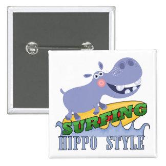 Hippopotamus de la persona que practica surf pin