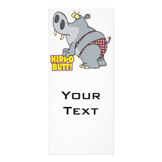 hippopotamus del bikini del extremo del hipopótamo diseños de tarjetas publicitarias