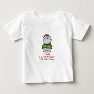 Hippopotamus for Christmas - Cute Hippo Design Baby T-Shirt