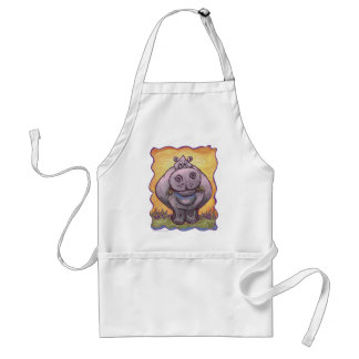 Hippopotamus Gifts & Accessories Adult Apron