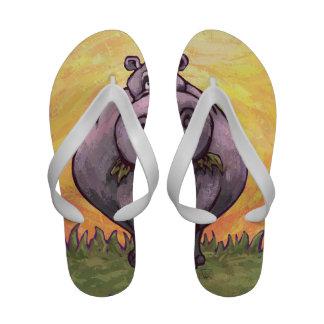 Hippopotamus Gifts Accessories Flip Flops