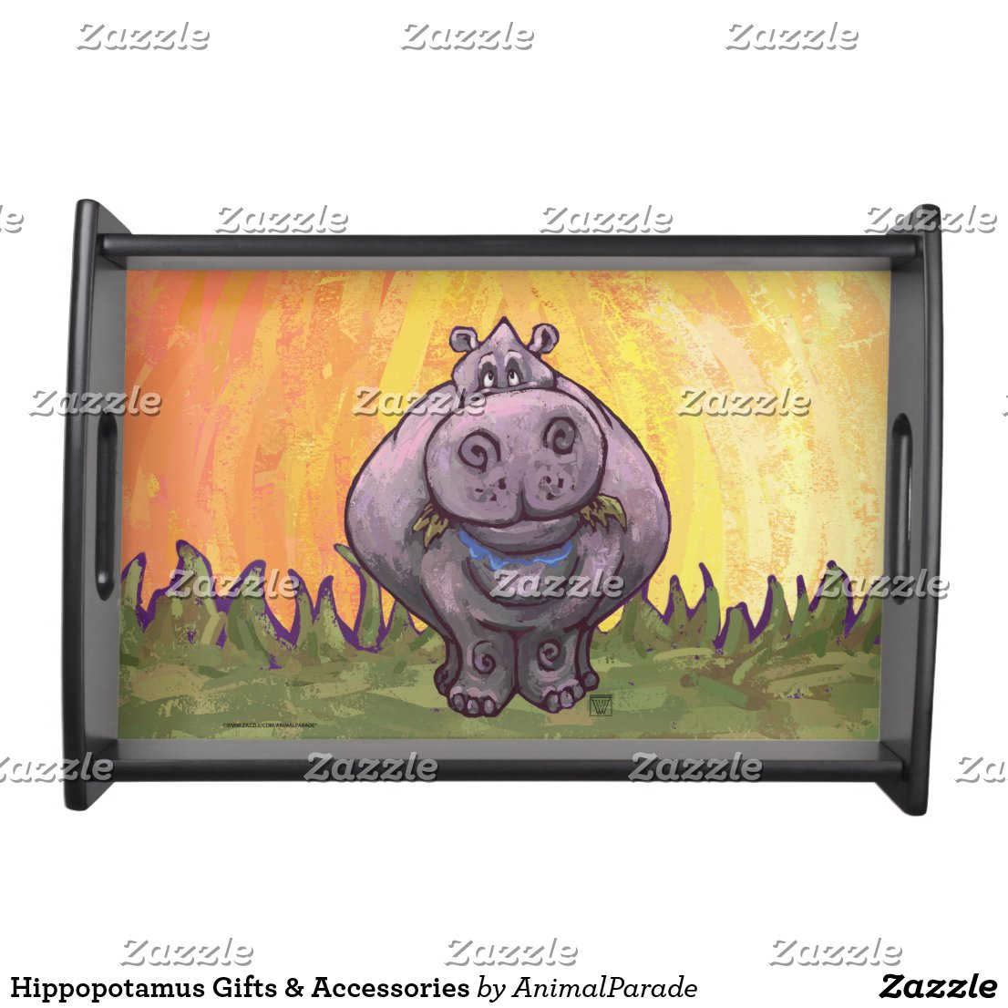 Hippopotamus Gifts & Accessories Serving Tray
