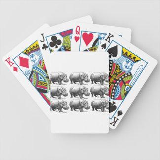 hippopotamus gold bicycle playing cards