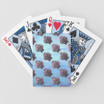 Hippopotamus Heads and Tails Patterns Bicycle Playing Cards