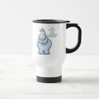 Hippopotamus Hipopótamo-Azul versátil Taza De Viaje De Acero Inoxidable