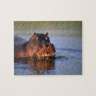 Hippopotamus in River Jigsaw Puzzle