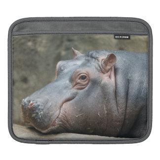 Hippopotamus iPad sleeve