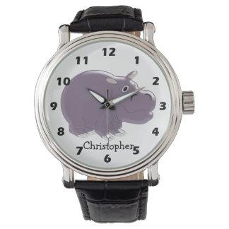 Hippopotamus Just Add Name Wrist Watch