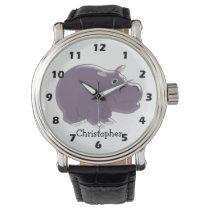 Hippopotamus Just Add Name Wristwatch