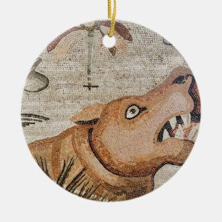 Hippopotamus, mosaico del Nilo, casa del fauno Ornamento Para Arbol De Navidad