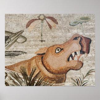 Hippopotamus, mosaico del Nilo, casa del fauno Impresiones