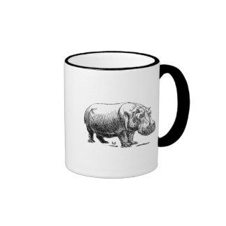 Hippopotamus Ringer Coffee Mug