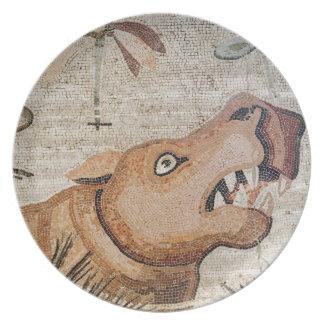 Hippopotamus, Nile mosaic, House of the Faun Plates