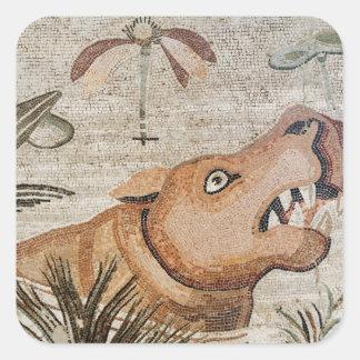 Hippopotamus, Nile mosaic, House of the Faun Stickers