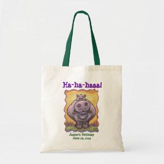 Hippopotamus Party Center Tote Bag