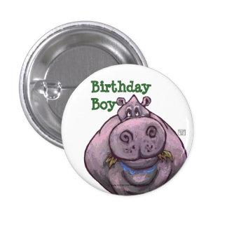 Hippopotamus Party Center Button
