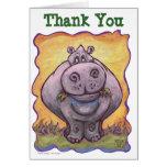 Hippopotamus Party Center Cards