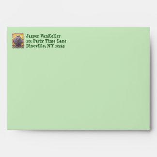 Hippopotamus Party Center Envelope