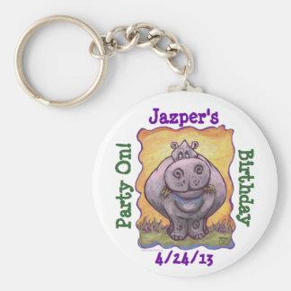 Hippopotamus Party Center Key Chain