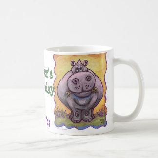 Hippopotamus Party Center Classic White Coffee Mug