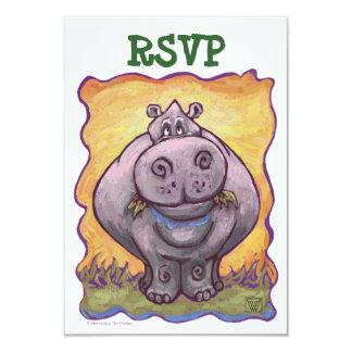 Hippopotamus Party Center RSVP Card