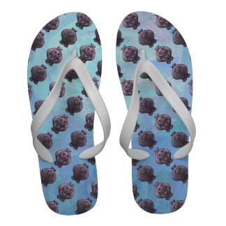 Hippopotamus Patterns Sandals