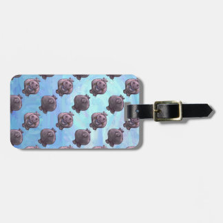 Hippopotamus Patterns Travel Bag Tags