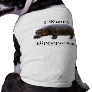 Hippopotamus Pet Shirt