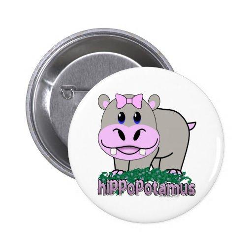 Hippopotamus Pin Redondo 5 Cm