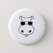 Hippopotamus Sunglasses Love Hippos Fiona Baby Button