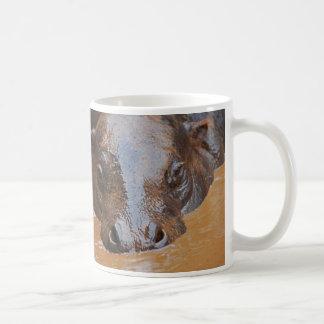 Hippopotamus swimming coffee mug