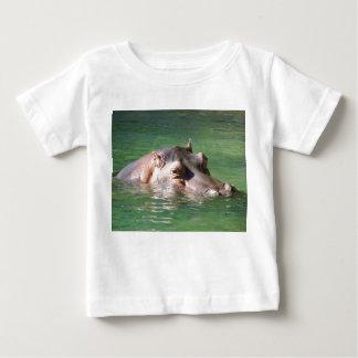 Hippopotamus Swimming On The Surface Baby T-Shirt
