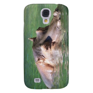 Hippopotamus Swimming On The Surface Samsung Galaxy S4 Covers
