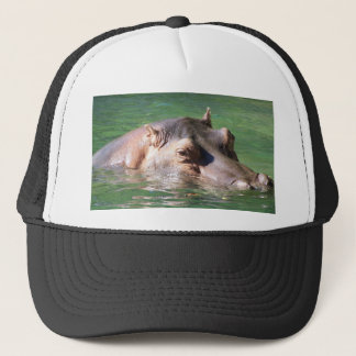 Hippopotamus Swimming On The Surface Trucker Hat